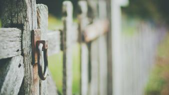 Fences wood depth of field wooden fence wallpaper