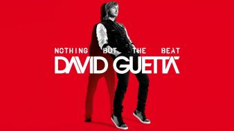 Guetta nothing but the beat red background Wallpaper