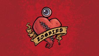 Horror love zombies hearts i wallpaper