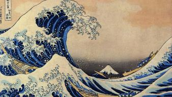 Katsushika hokusai thirty-six views of mount fuji wallpaper