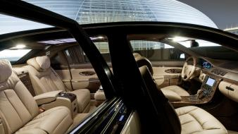 Leather cars maybach 62 s luxury wallpaper