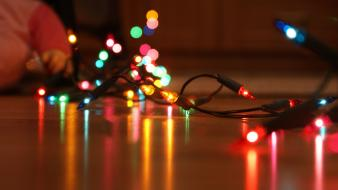 Light focus christmas lights Wallpaper