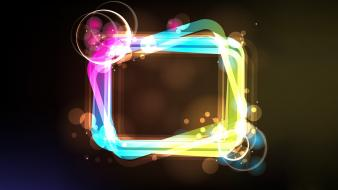 Light vector bokeh graphic art squares wallpaper