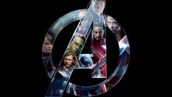 Logos the avengers (movie) black background wallpaper