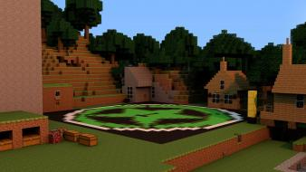 Minecraft rooster teeth achievement hunter city wallpaper