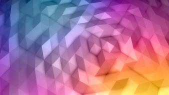 Minimalistic digital geometry colors wallpaper