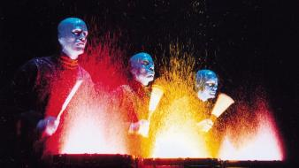 Music blue man group musican Wallpaper