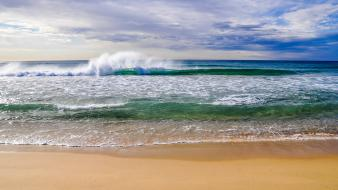 Nature coast beach waves brisbane australia sea wallpaper