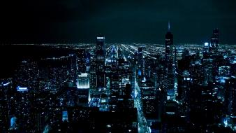 Night lights cities wallpaper