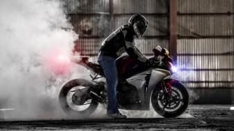 Night rider motorbikes burnout honda cbr1000rr headlights wallpaper