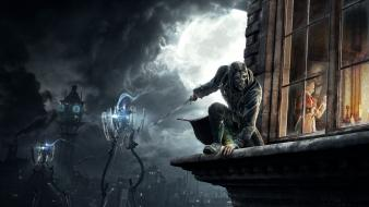 Night tower dishonored killer wallpaper