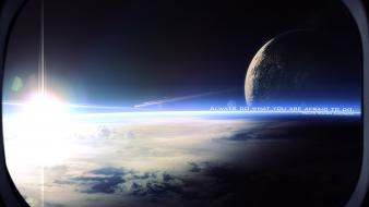 Outer space planets deviantart window panes wallpaper