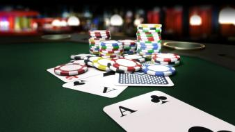 Poker table cards chips wallpaper
