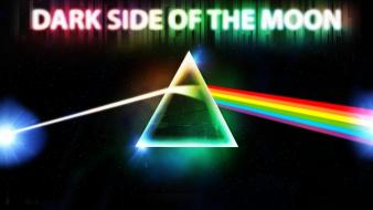 Rainbows the dark side of moon triangles wallpaper