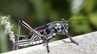 Robots insects yamaha digital art wallpaper