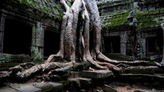 Ruins cambodia angkor wat site old places Wallpaper