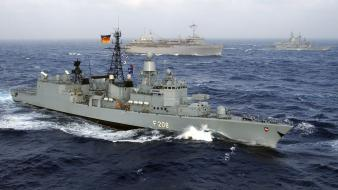 Sea battle nato vessel warships marine bundesmarine wallpaper