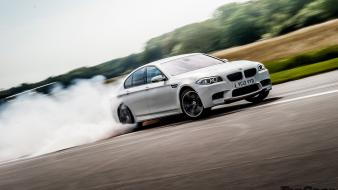 Smoking cars vehicles bmw m5 drifting topgear Wallpaper