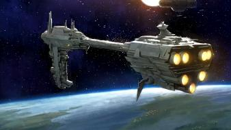 Spaceships science fiction artwork nebulon b frigate wallpaper