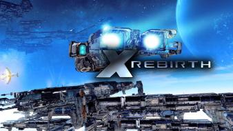 Spaceships space station x rebirth wallpaper