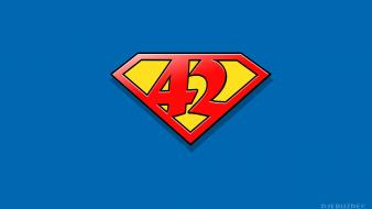 Superheroes digital art rule 42 logos logo wallpaper