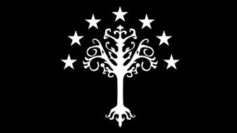 The lord of rings flags white tree gondor wallpaper