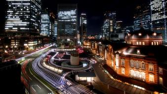 Tokyo lights architecture buildings roads cities wallpaper