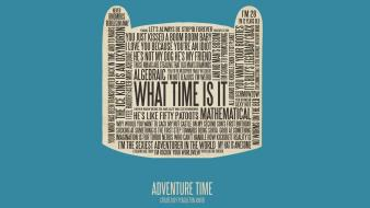 Typography adventure time finn the human wallpaper