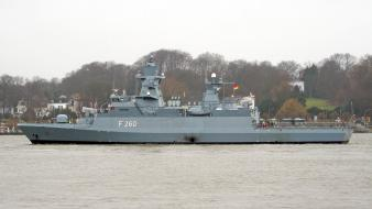 Vessel warships marine bundesmarine korvette braunschweig k130 wallpaper