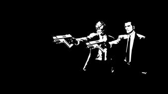 Video games movies pulp fiction mass effect wallpaper