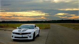 White cars europe chevrolet muscle car camaro wallpaper