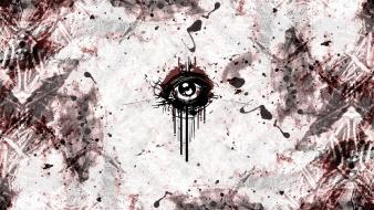 Abstract eyes grunge wallpaper