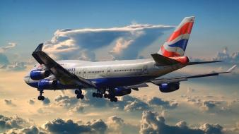 Aircraft airliners aviation boeing 747 british airways wallpaper