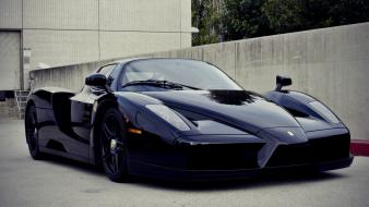 Black streets cars ferrari vehicles supercars enzo automobile wallpaper