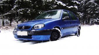 Blue snow citroen saxo wallpaper