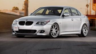 Bmw cars tuning m5 side view gray wallpaper