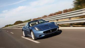 Cars highways ferrari california wallpaper