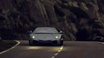 Cars hills lamborghini reventon matte colored street wallpaper
