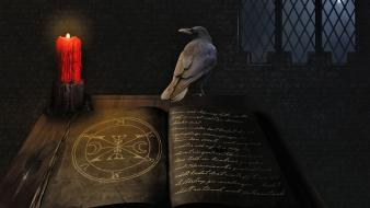 Circles books magic sorcerer medieval candles mage wallpaper