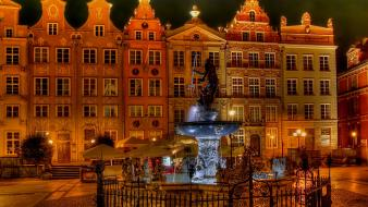 Cityscapes sculpture poland gdansk wallpaper