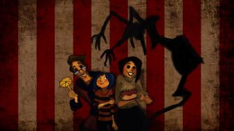 Creepy movies coraline buttons wallpaper