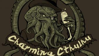 Demons cthulhu hats monoglass charming wallpaper