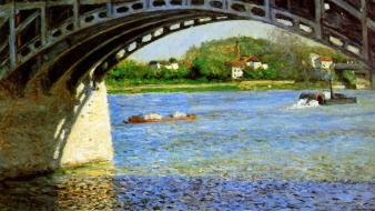 French rivers traditional art gustave caillebotte impressionism wallpaper