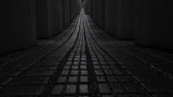 Germany memorial berlin concrete gravel columns wallpaper