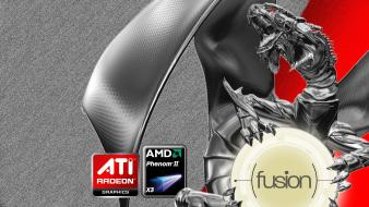 Ice computers house amd fusion ati wallpaper