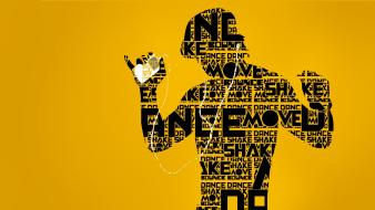 Ipod typography dance yellow background move wallpaper