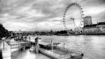 London eye rivers cities thames river treadmill wallpaper