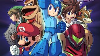 Mega man donkey kong super smash bros wallpaper