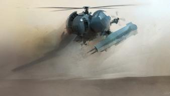 Military helicopters desert artwork art millitary wallpaper