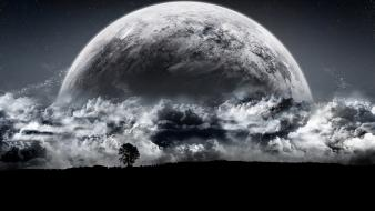 Night moon luna media wallpaper